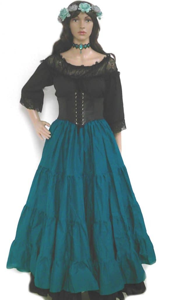 Black Turquoise Plus Size Wench Dress