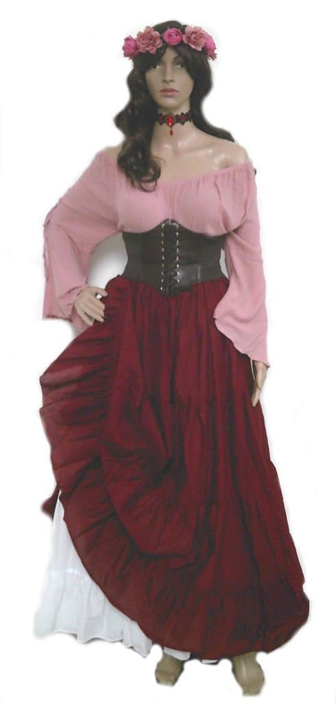 Pink Plus Size Wench Dress