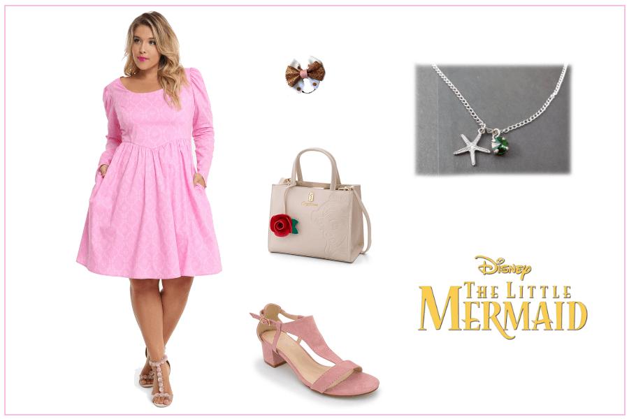 Spring Disney Little Mermaid Plus Size Dress