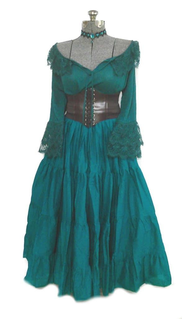 Teal Plus Size Wench Dress