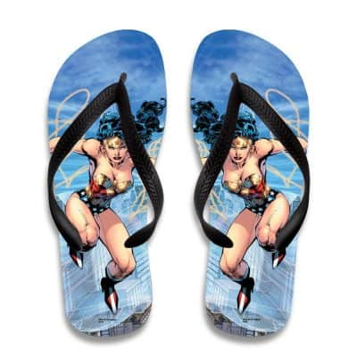 Wonder Woman Flip Flops