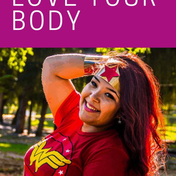 Woman in Wonder Woman tiara and t-shirt