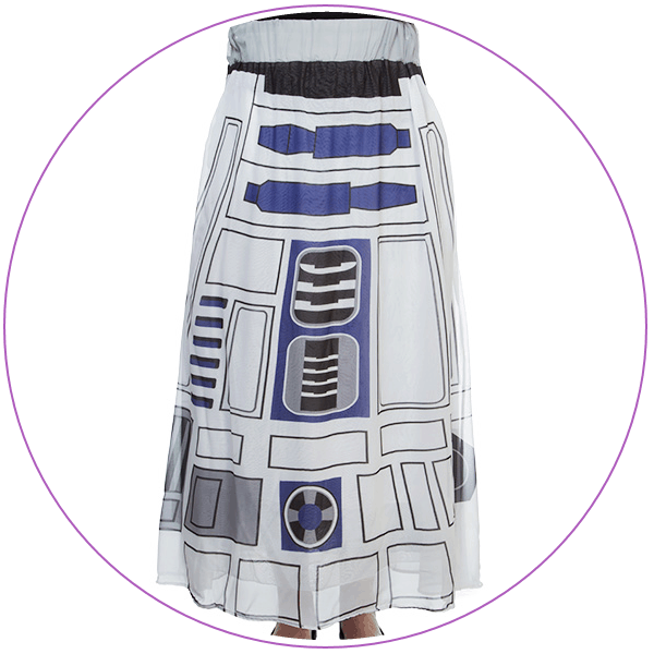 Plus Size Star Wars Maxi Skirt R2-D2