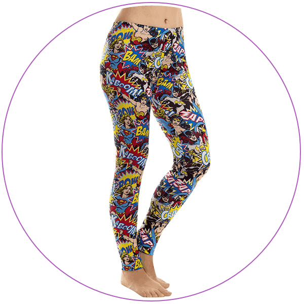 Plus Size Wonder Woman Boom Pow Leggings