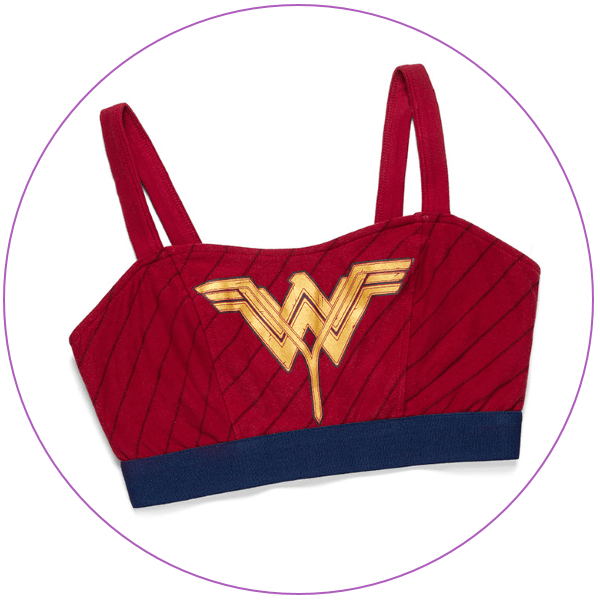 Plus Size Wonder Woman Bra