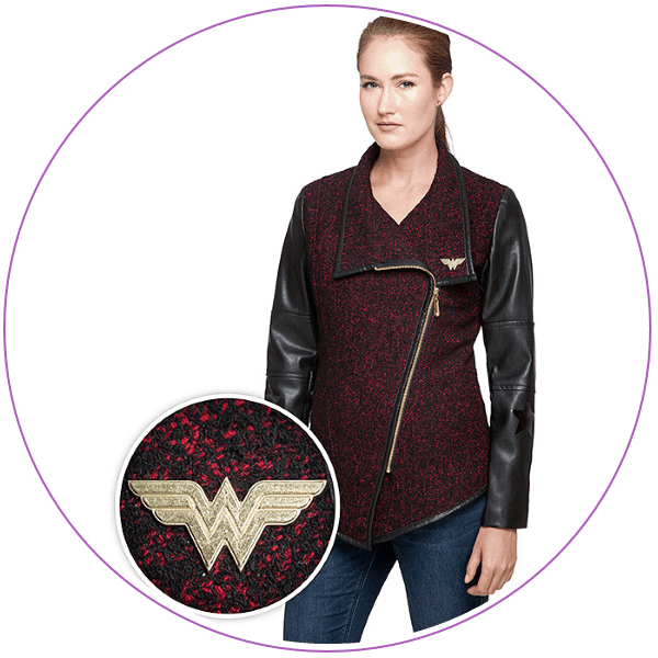Plus Size Wonder Woman Jacket Asymmetrical