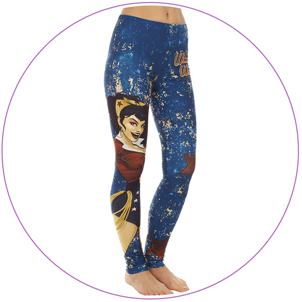 Plus Size Wonder Woman Bombshell Leggings