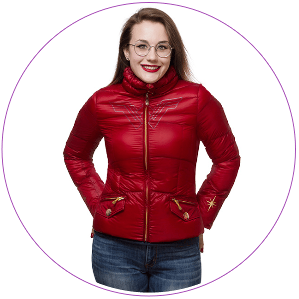 Plus Size Wonder Woman Down Jacket