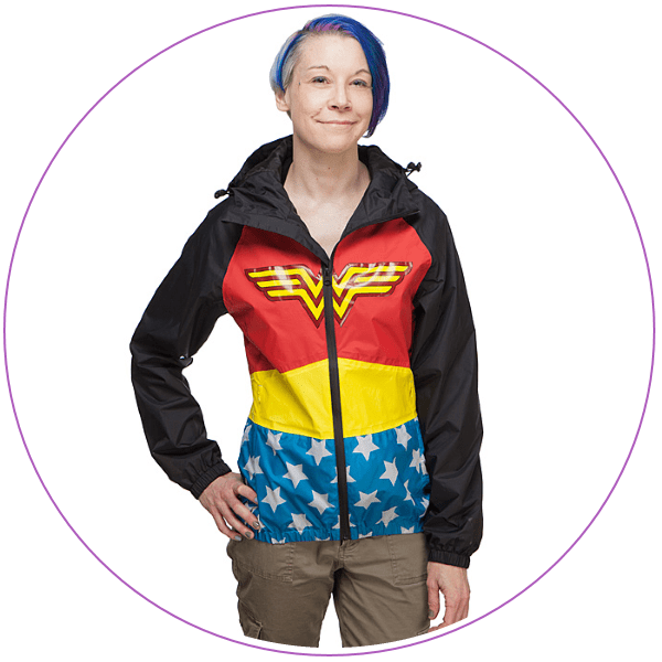 Plus Size Wonder Woman Rain Jacket