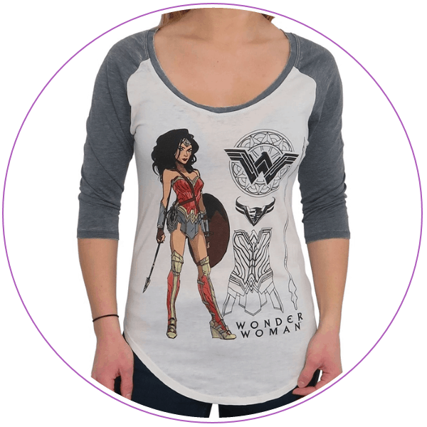 Plus Size Wonder Woman T-shirt Armor Pose
