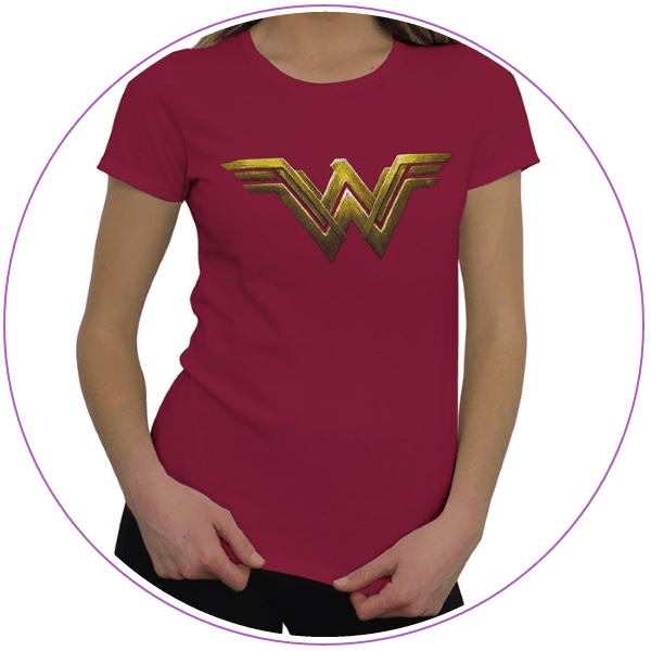 Plus Size Wonder Woman Justice League T-shirt
