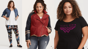 Collage of women in Wonder Woman clothing