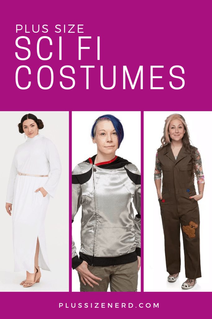 Photo collage of women in science fiction costumes