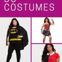Collage of women wearing superhero costumes