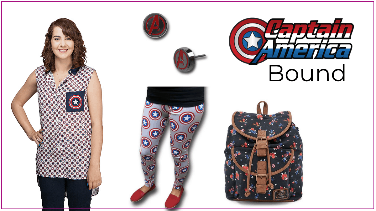 Captain America Clothes for Plus Size Style