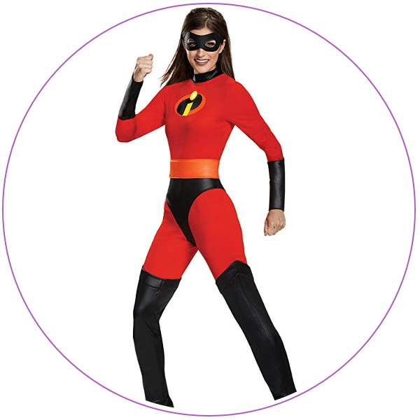 Woman wearing tights as Elastigirl from The Incredibles