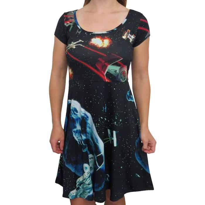 Plus Size Star Wars Dress of X-Wings and TIE Fighters