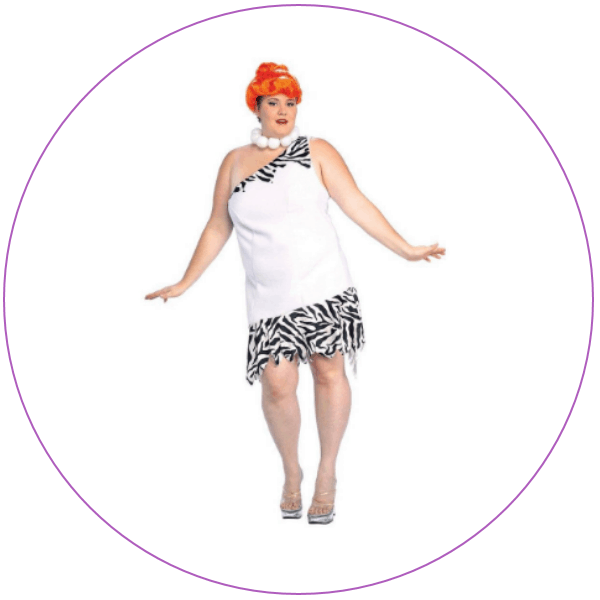 Woman wearing a Plus Size Wilma Flintstone Costume