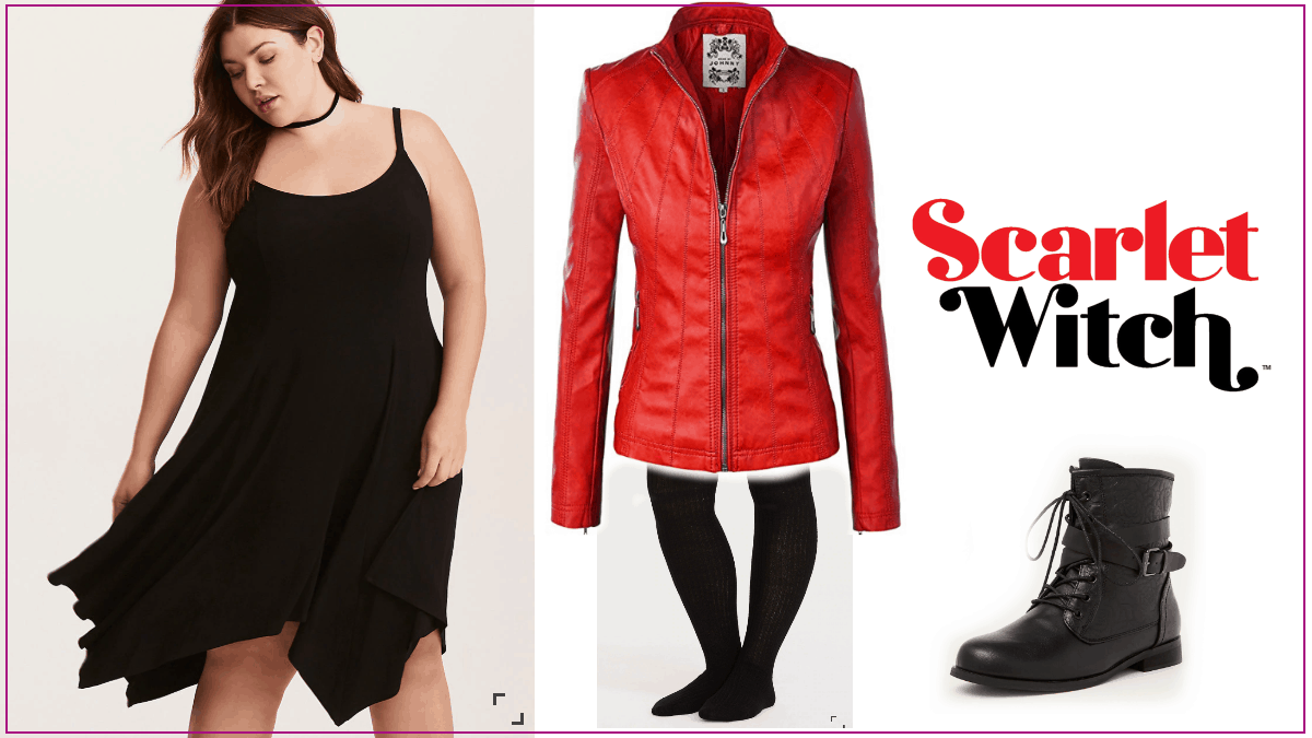 Scarlet Witch Plus Size Casual Cosplay