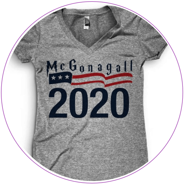 Gray t-shirt with McGonagall 2020 logo