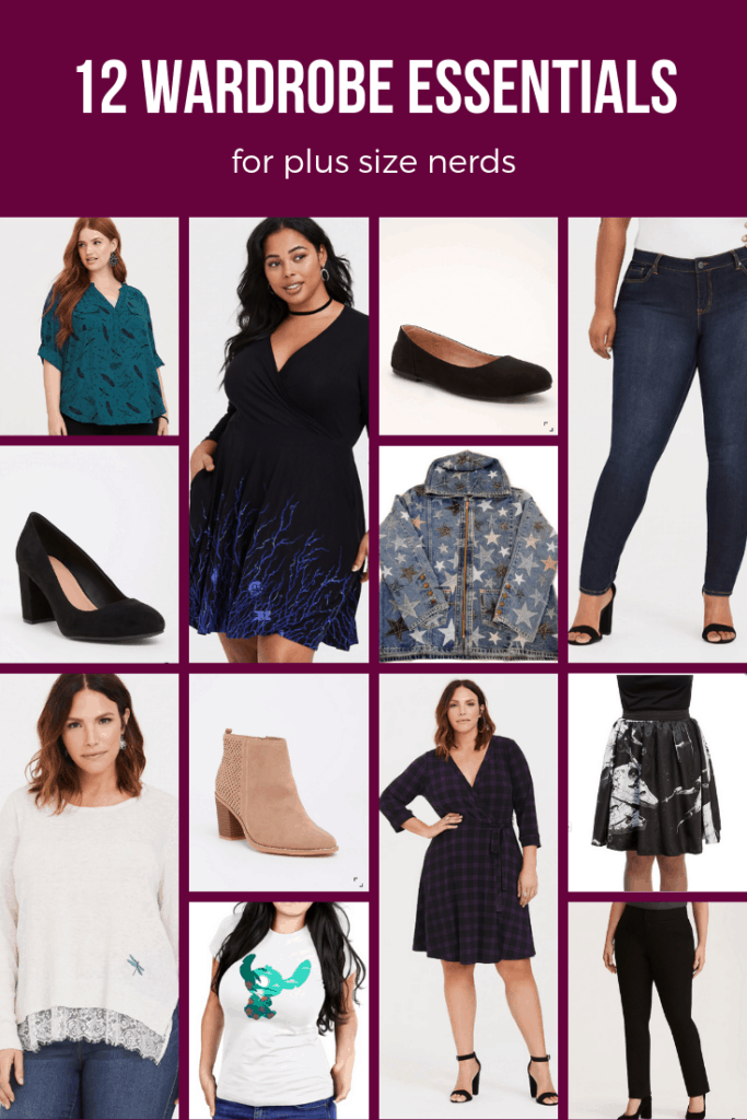 Collage of photos of women wearing plus size clothing
