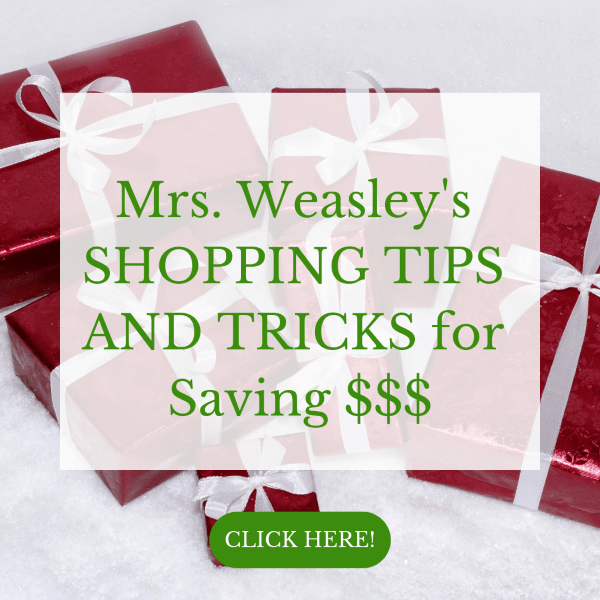 Click here to sign up for a 25 day email series on how to save $$$ when you shop!
