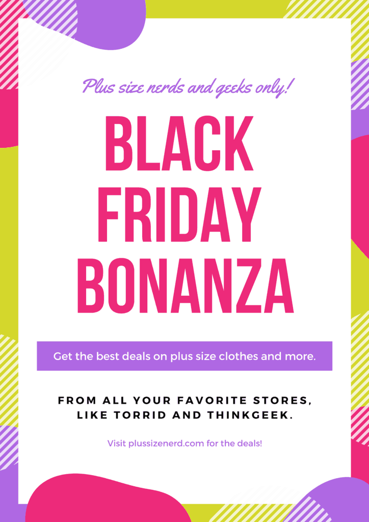 Colorful poster with text that says Black Friday Bonanza