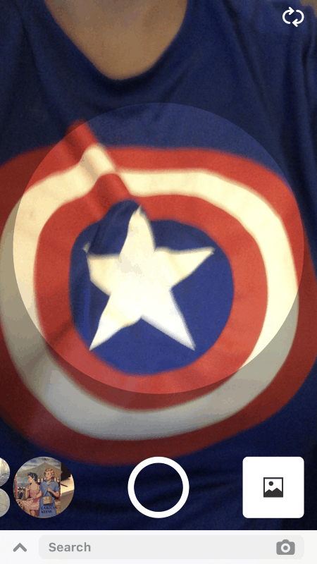 Photo of Captain America shield shirt