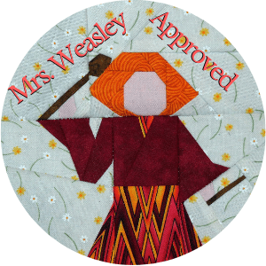 Quilt square of Mrs. Weasley
