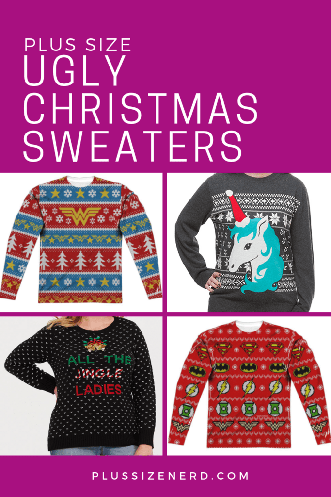 Plus Size Ugly Christmas Sweaters - Plus Size Nerd