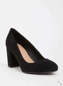 Black high-heeled shoe