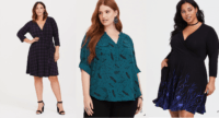 Three women wearing chic plus size clothing