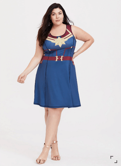 Plus Size Captain Marvel Dress