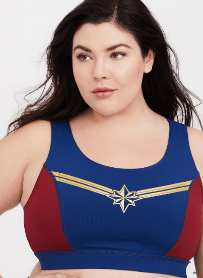 Plus Size Captain Marvel Sports Bra
