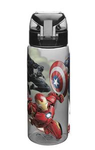 Marvel Comics Water Bottles, Tritan, Black Panther, Hulk, Captain America & Iron Man