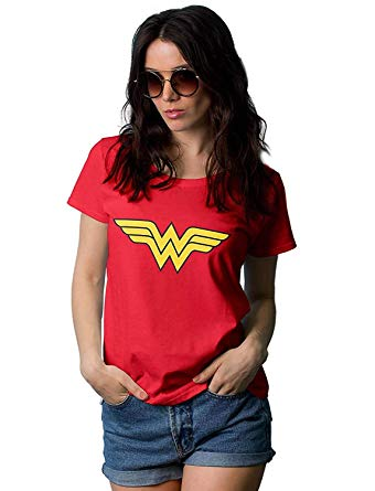 Plus size Wonder Woman t-shirts, leggings, costumes and more.